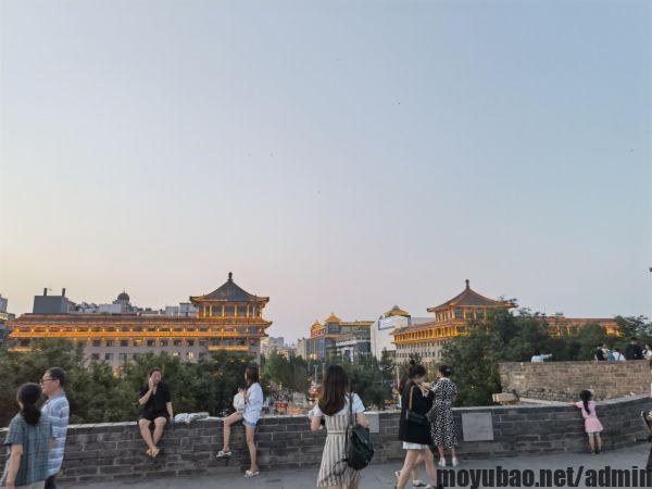 西安城墙傍晚