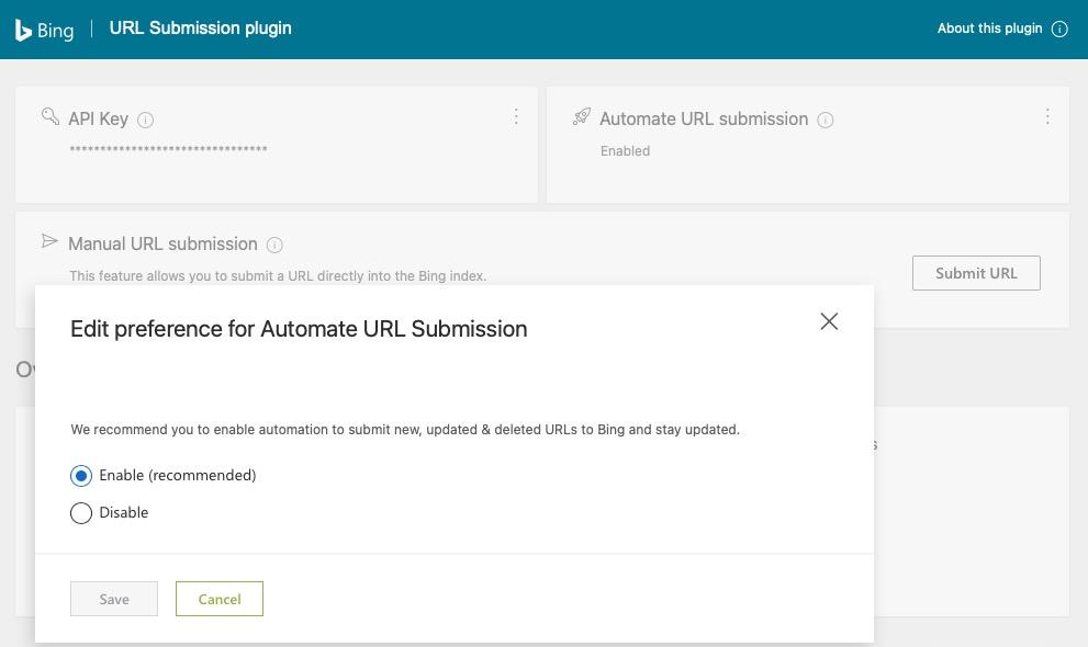 自动提交URL配置